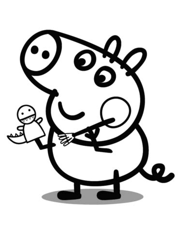 george pig coloring page  printable coloring pages