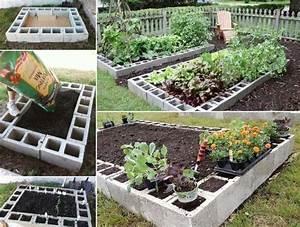bloc beton pour la deco de jardin en 30 idees creatives With comment amenager un petit jardin 4 creer un potager