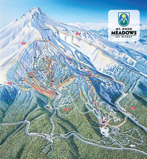 Pistenplan Mt Hood Meadows Ski Resort • Offene Lifte