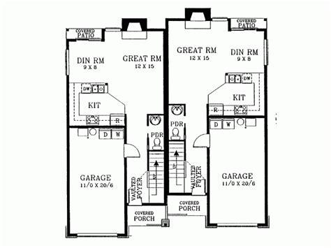 duplex floor plans for narrow lots eplans house plan narrow lot duplex front