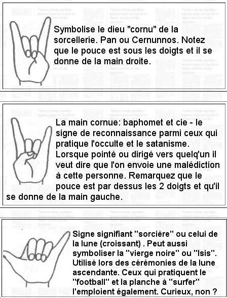 Les Signes De La Mains Sataniques