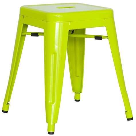 alfresco galvanized steel side chair in lime green set
