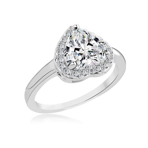 heart shaped engagement ring promotion shop for