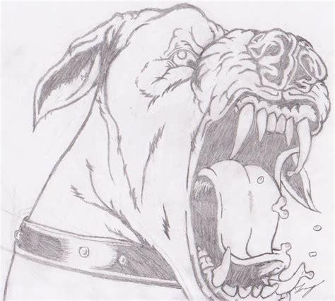 artwork vicious dog