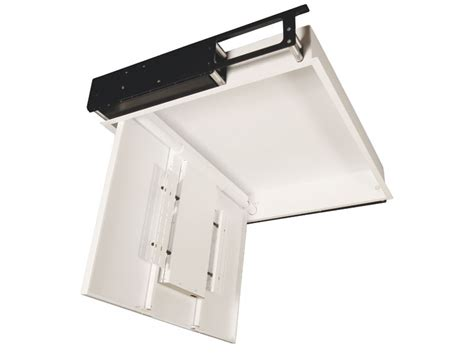 support tv escamotable plafond