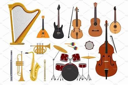 Instruments Musical Concert Wind Illustration Acoustic Vector