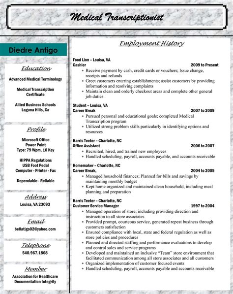 Billing And Coding Resume by Billing And Coding Resume Sle Sle Resumes