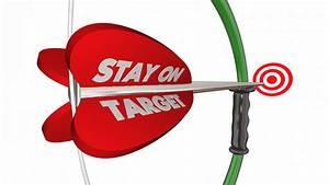Stay on Target Aim Focus Success Bow Arrow 3d Animation ...
