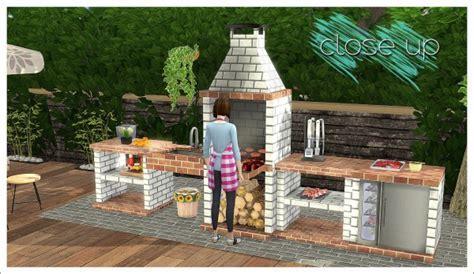 Sims 4 Designs: Mensure BBQ Outdoor Kitchen Set ? Sims 4