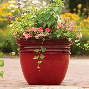 Better, Homes, U0026, Gardens, Bombay, Decorative, Outdoor, Planter, Red, Sedona, -, 16, U0026quot