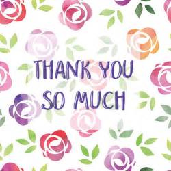 Free Thank You so Much Images