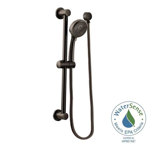 shower rubbed bronze moen 4 spray 4 in eco performance handheld handshower