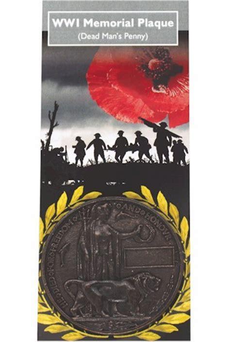 WWI Memorial Plaque   Dead Man s Penny