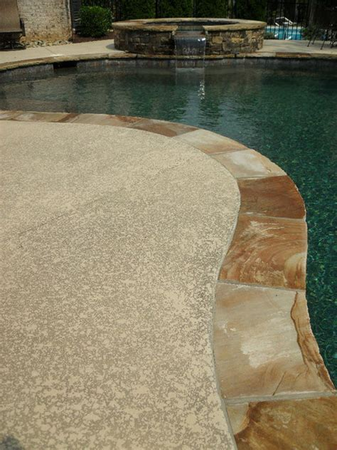 Resurface Pool Deck With Pavers by Pool Deck Concrete Resurfacing
