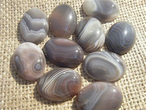 1 30x22mm Botswana Agate Gemstone Natural Cabochon Stone