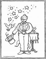 Magician Colouring Circus Kiddicolour Drawing Receiver Mail 01v sketch template