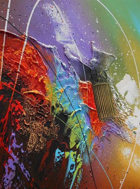 peinture acrylique moderne abstrait tableau abstrait contemporain kaitos peinture acrylique toile en relief noir violet marron