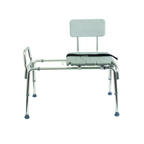 duro med heavy duty sliding transfer bench shower chair