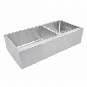Ariel 42 inch 60 40 offset double bowl farmhouse apron for 40 inch farmhouse sink