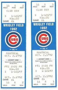 Chicago Cubs Baseball Tickets