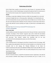 Essay on advantages and disadvantages of fast food