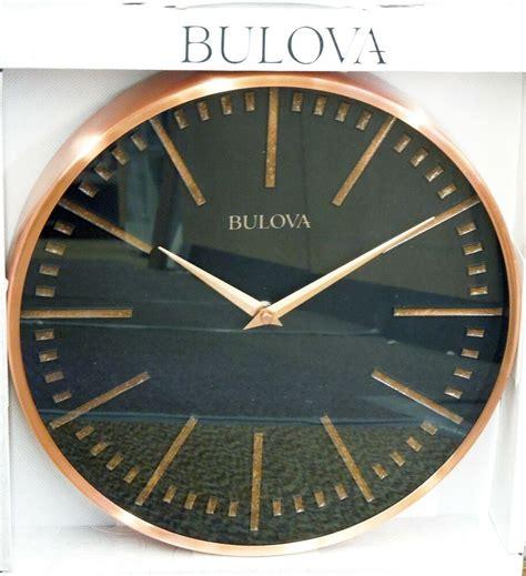 Decorative Clock - bulova copper decorative metal 12 5 quot wall clock c4811 ebay