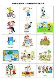 present simple  present continuous speaking activity