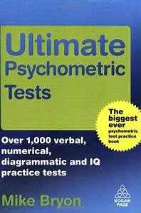 Ultimate Psychometric Tests   Over 1 000 Verbal  Numerical