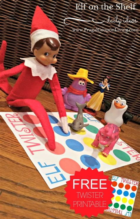 elf   shelf ideas elf twister printable