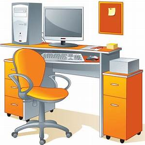 19 Vector Desk And Chairs Images - Free Vector Clip Art ...