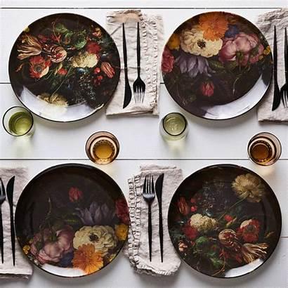 Melamine Dinnerware Plates Floral Food52 Ebru