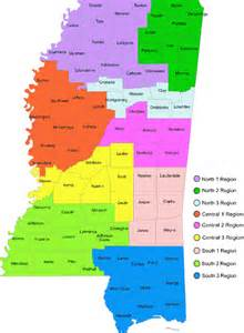 Mississippi State Region Map