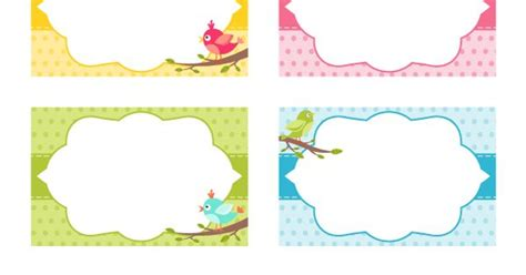 printable bird  tags  template