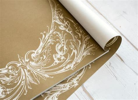 gold italian scroll paper placemats hester cook