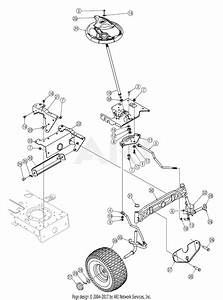 Mtd 13bt604h755  2005  Parts Diagram For Steering