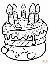 Coloring Cake Shopkin Pages Wishes Printable Dot Colorings Paper Crafts sketch template
