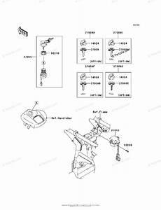 Kawasaki Atv 2007 Oem Parts Diagram For Ignition Switch