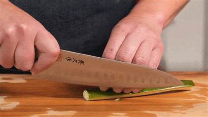 Knife Chef Most Chopping Animated Close Vegetable