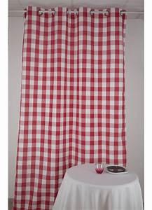 Double Rideaux La Redoute : elegant rideau carreaux rouge et blanc rouge et blanc with la redoute double rideaux ~ Dallasstarsshop.com Idées de Décoration
