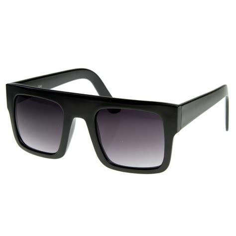 thick frame square sunglasses modern fashion flat top thick frame square sunglasses shades 8180 black ebay