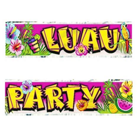 Luau Party Banner Clip Art