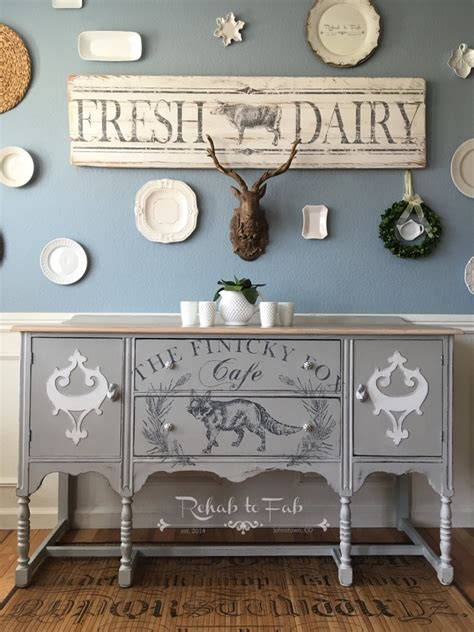 finicky fox chalk style paint buffet general