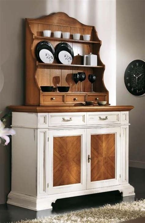 shabby chic wooden cupboard  plate rack  secret compartment
