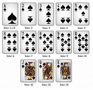 valor de las cartas de casino