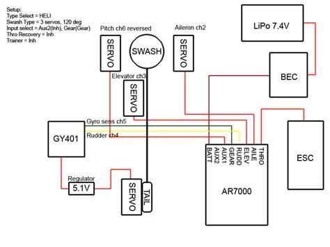 Nitro Servo Wiring by Ar 7000 Help Helifreak