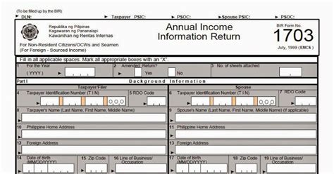 income tax form 24 as filing income tax for seamen and ofw what is form 1703