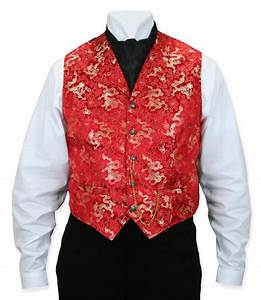 Scully Vest Size Chart Wah Maker Dragon Vest Red With Gold Men 39 S Old West
