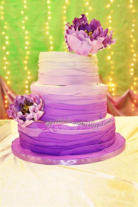 bihaliciouscakes purple ombre fondant wedding cake