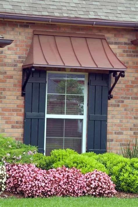 outdoor copper window awning amazing  stylish window