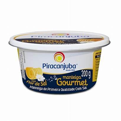 Manteiga Gourmet Piracanjuba Sal 200g Flor Pote